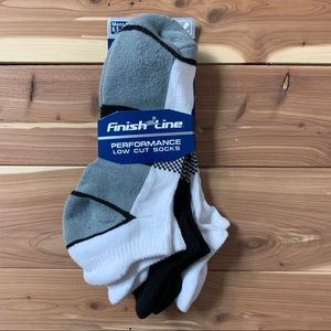 Finish Line Performance Low Cut Socks 3 Pack